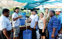 Aquaponics meeting in the Cook Islands